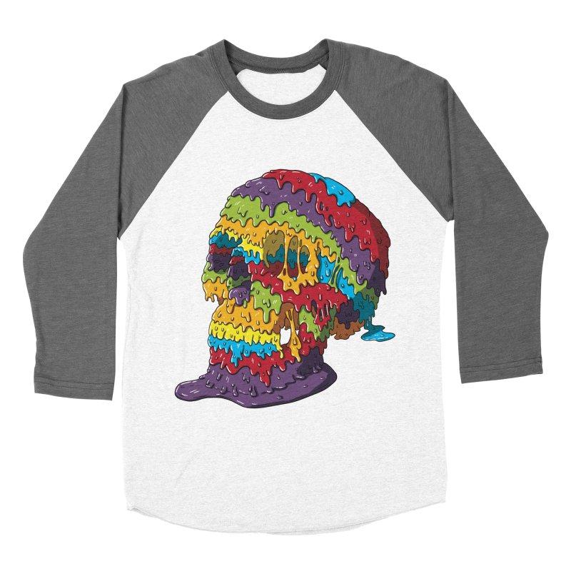 Melty Skull Women's Baseball Triblend Longsleeve T-Shirt by Mystic Soda