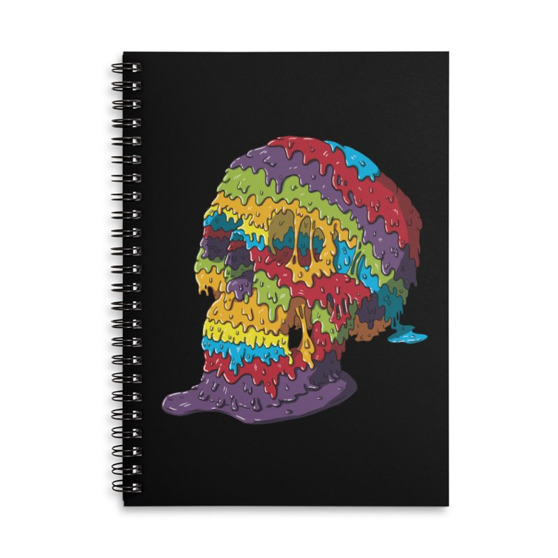 Melty Skull Accessories Lined Spiral Notebook by Mystic Soda
