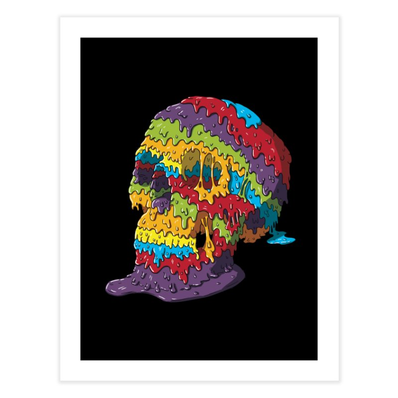 Melty Skull Home Fine Art Print by Mystic Soda