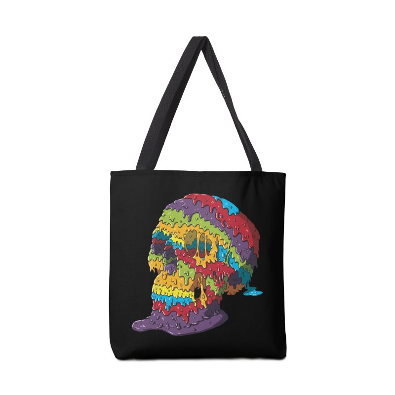 Melty Skull Accessories Tote Bag Bag by Mystic Soda