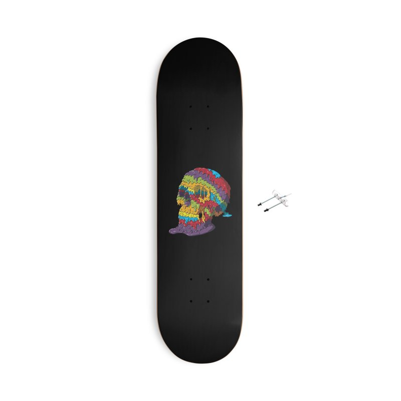 Melty Skull Accessories With Hanging Hardware Skateboard by Mystic Soda