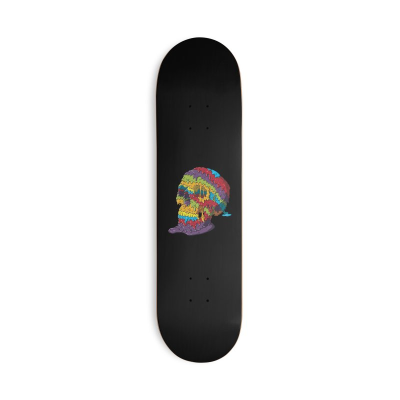 Melty Skull Accessories Deck Only Skateboard by Mystic Soda