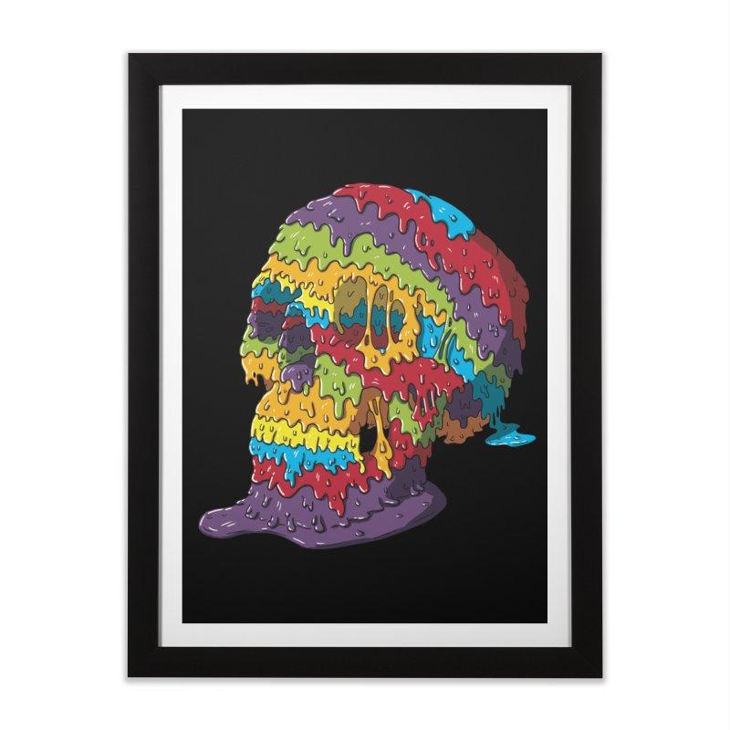 Melty Skull Home Framed Fine Art Print by Mystic Soda