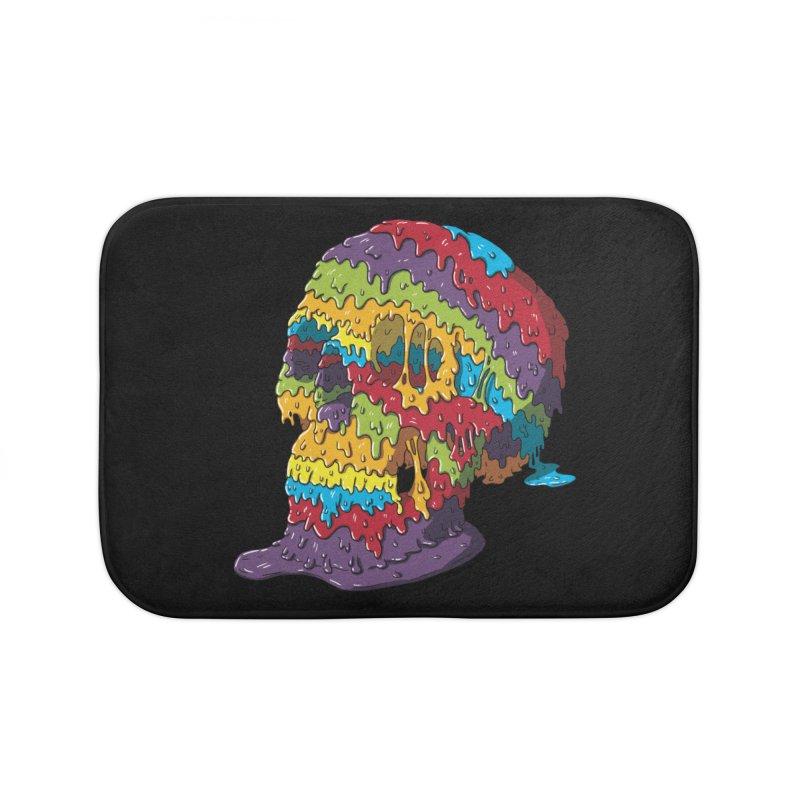 Melty Skull Home Bath Mat by Mystic Soda