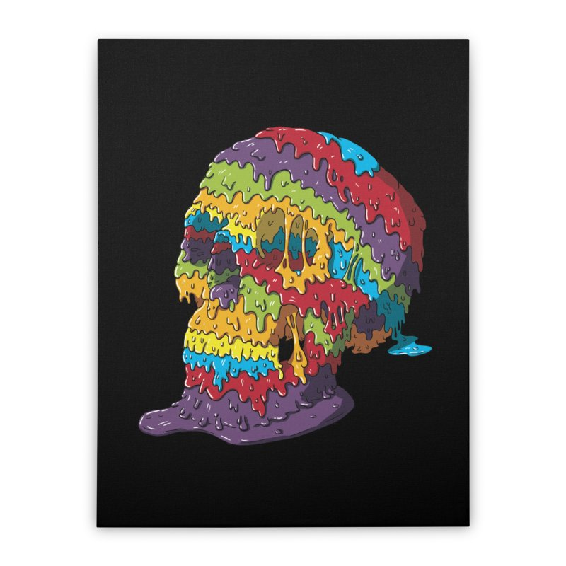 Melty Skull Home Stretched Canvas by Mystic Soda