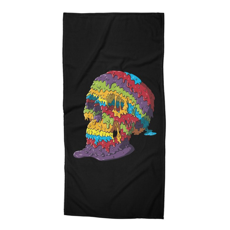 Melty Skull Accessories Beach Towel by Mystic Soda