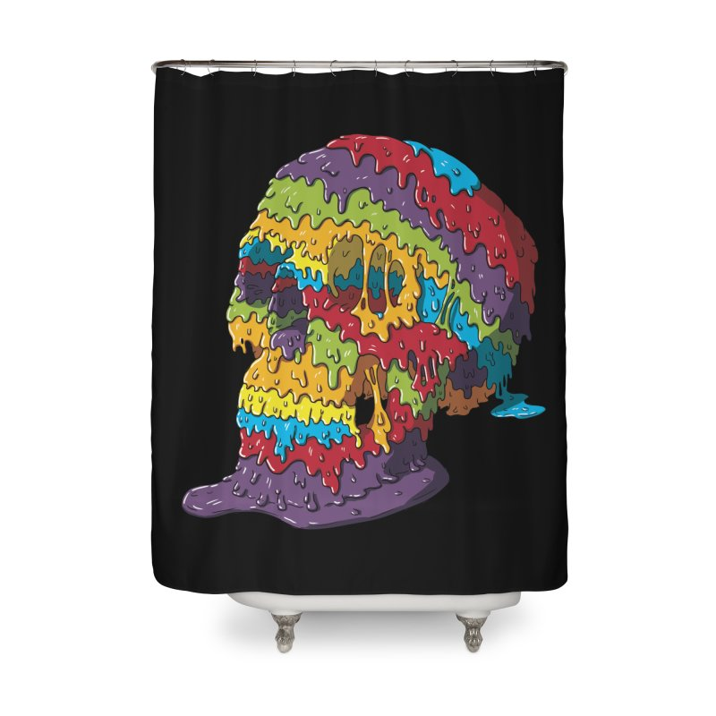 Melty Skull Home Shower Curtain by Mystic Soda