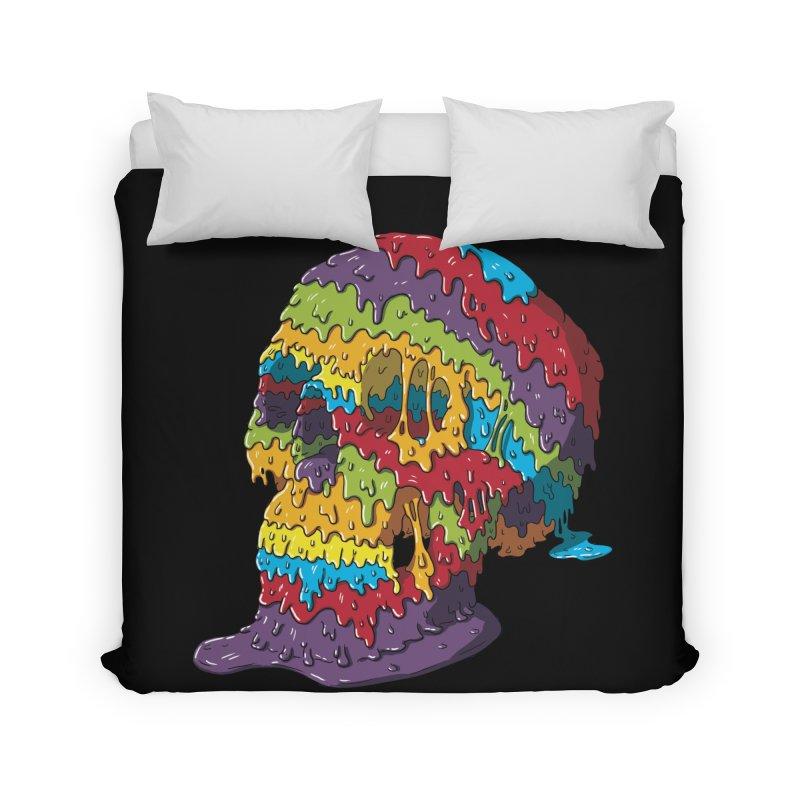 Melty Skull Home Duvet by Mystic Soda