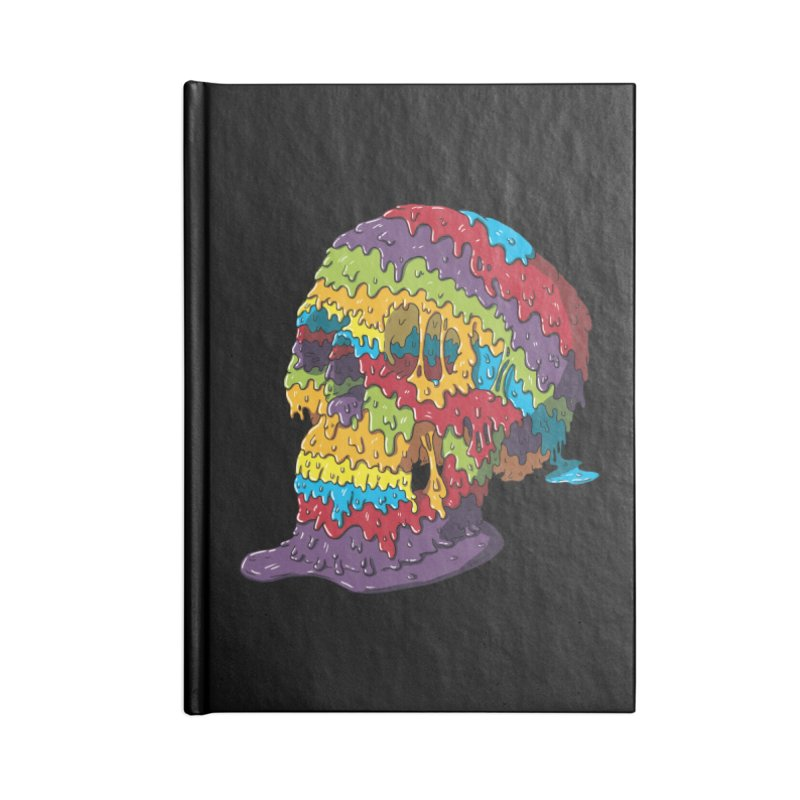 Melty Skull Accessories Lined Journal Notebook by Mystic Soda