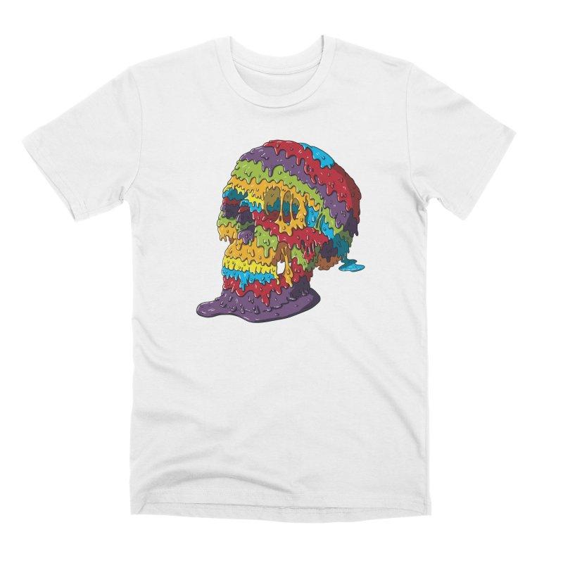 Melty Skull Men's Premium T-Shirt by Mystic Soda