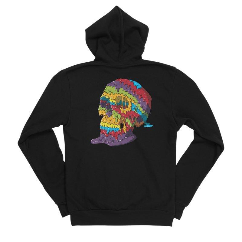 Melty Skull Women's Sponge Fleece Zip-Up Hoody by Mystic Soda