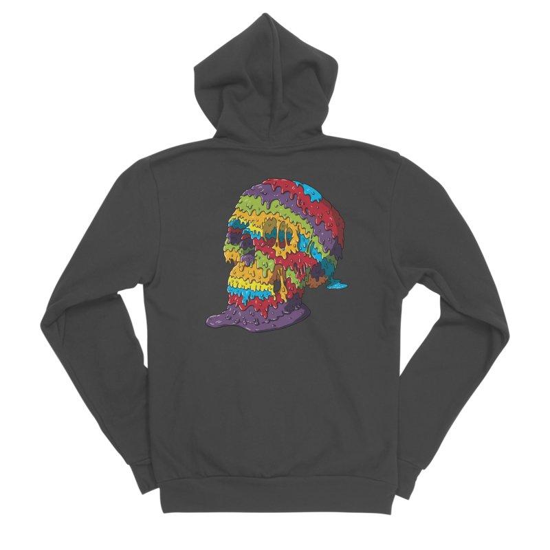 Melty Skull Men's Sponge Fleece Zip-Up Hoody by Mystic Soda