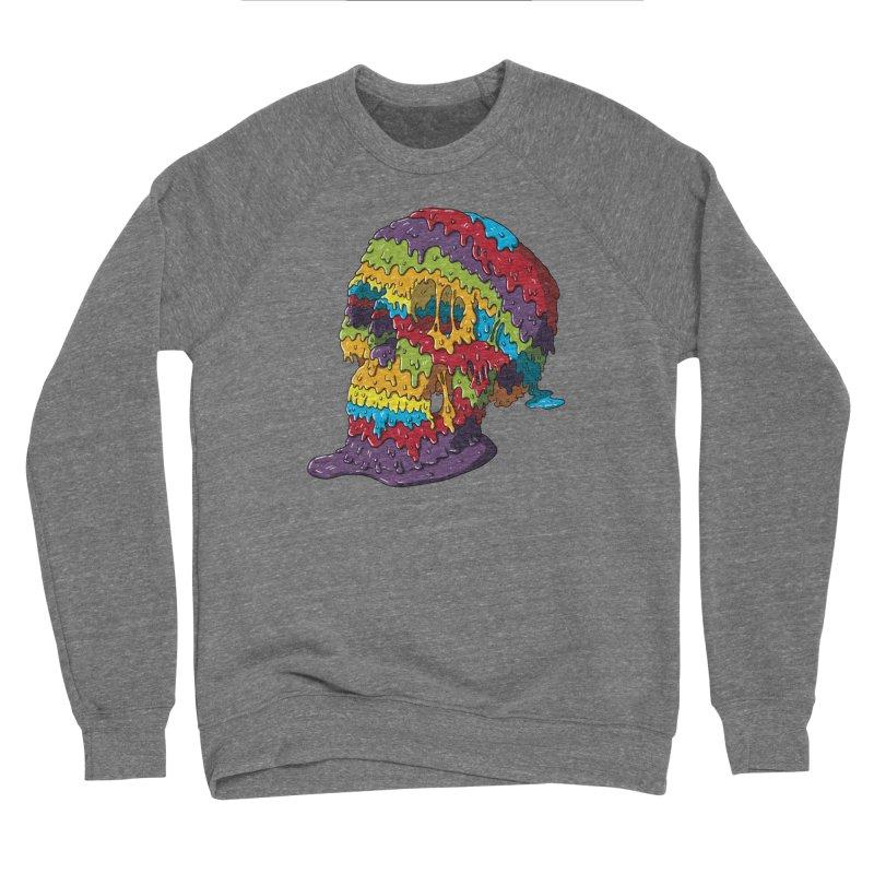 Melty Skull Men's Sponge Fleece Sweatshirt by Mystic Soda