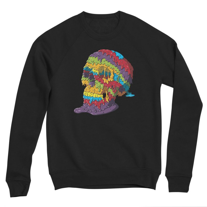 Melty Skull Women's Sponge Fleece Sweatshirt by Mystic Soda