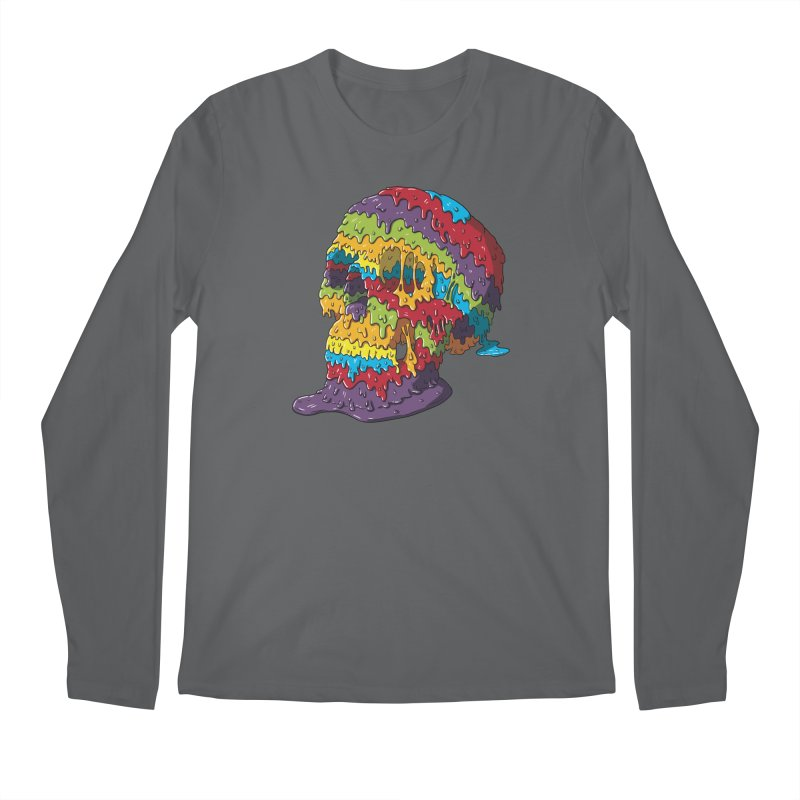 Melty Skull Men's Longsleeve T-Shirt by Mystic Soda