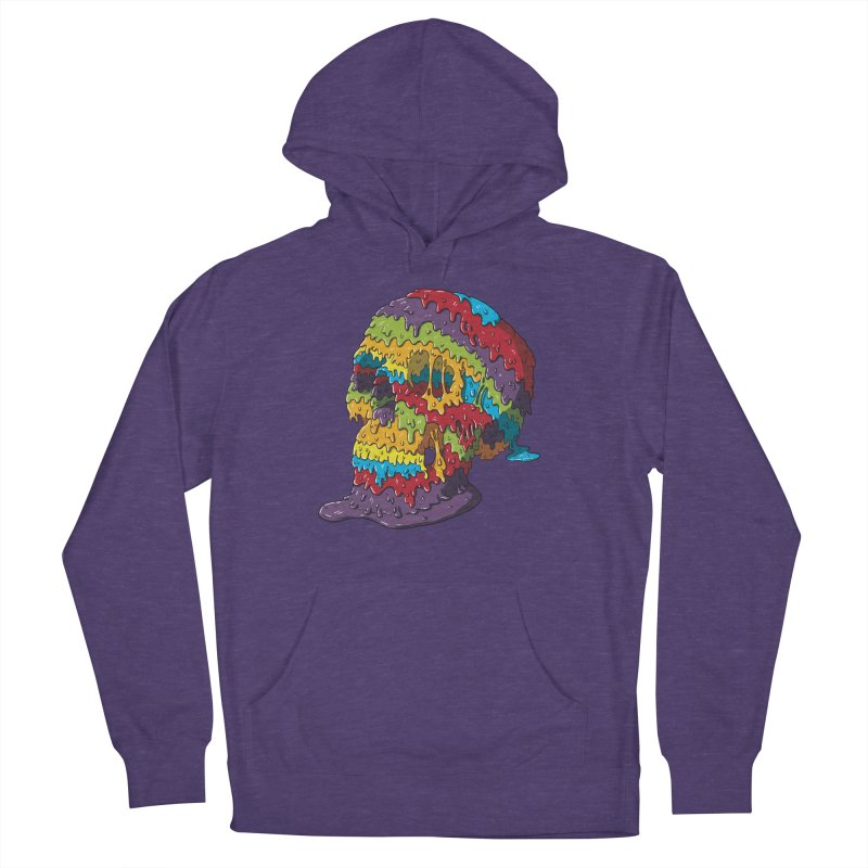 Melty Skull Women's French Terry Pullover Hoody by Mystic Soda