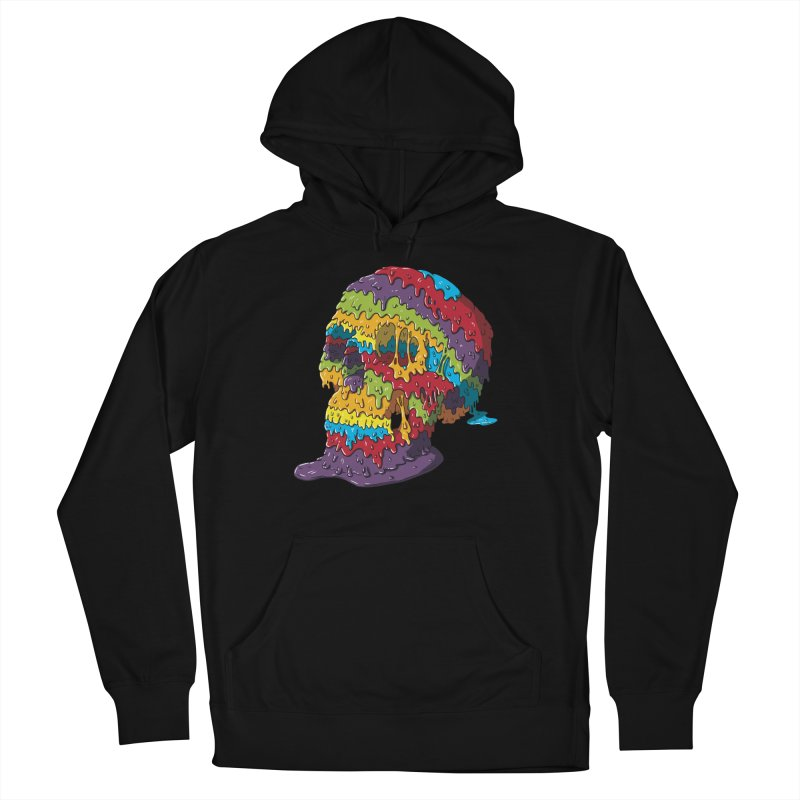 Melty Skull Men's French Terry Pullover Hoody by Mystic Soda