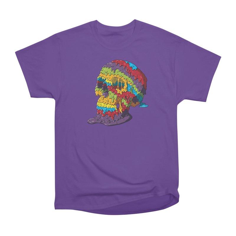 Melty Skull Women's Heavyweight Unisex T-Shirt by Mystic Soda