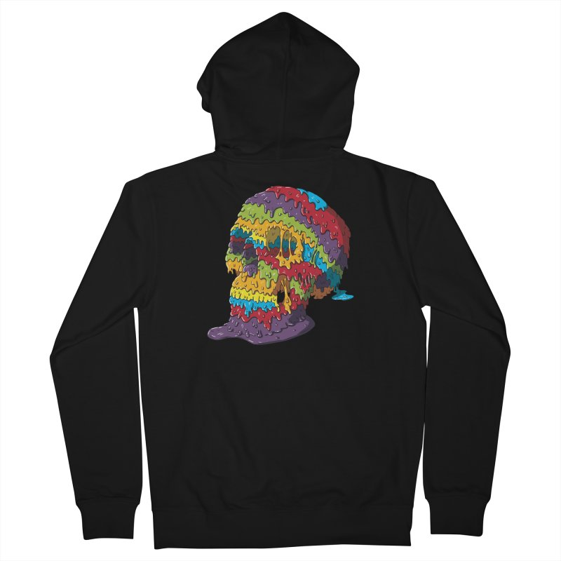 Melty Skull Women's French Terry Zip-Up Hoody by Mystic Soda