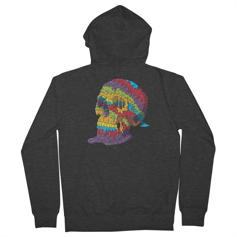 Melty Skull Men's French Terry Zip-Up Hoody by Mystic Soda