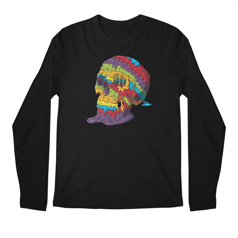 Melty Skull Men's Regular Longsleeve T-Shirt by Mystic Soda