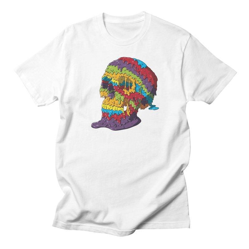 Melty Skull Women's Regular Unisex T-Shirt by Mystic Soda