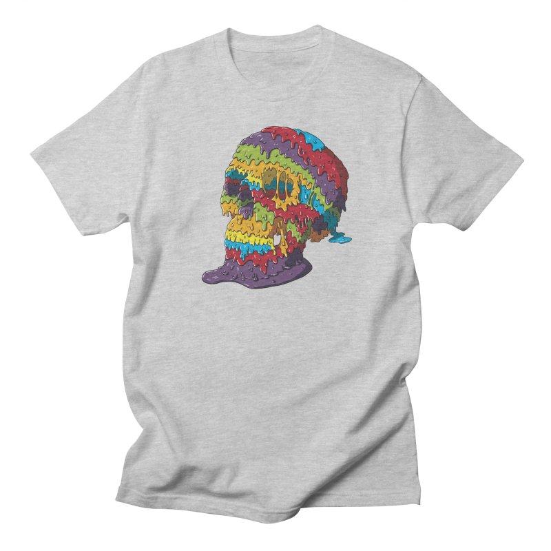 Melty Skull Men's Regular T-Shirt by Mystic Soda