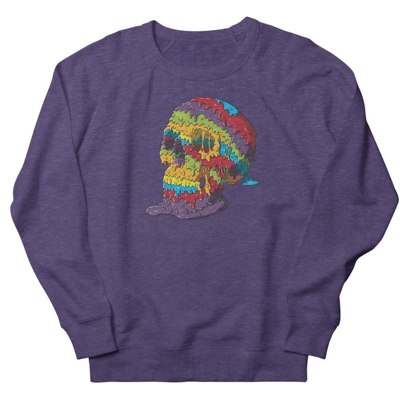 Melty Skull Men's French Terry Sweatshirt by Mystic Soda