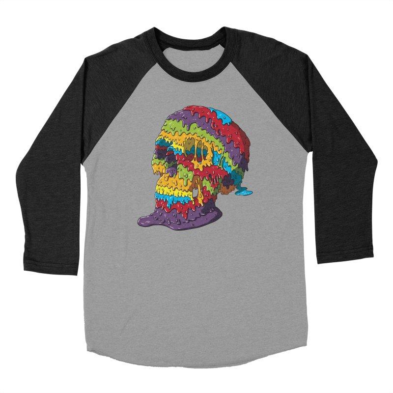 Melty Skull Men's Baseball Triblend Longsleeve T-Shirt by Mystic Soda