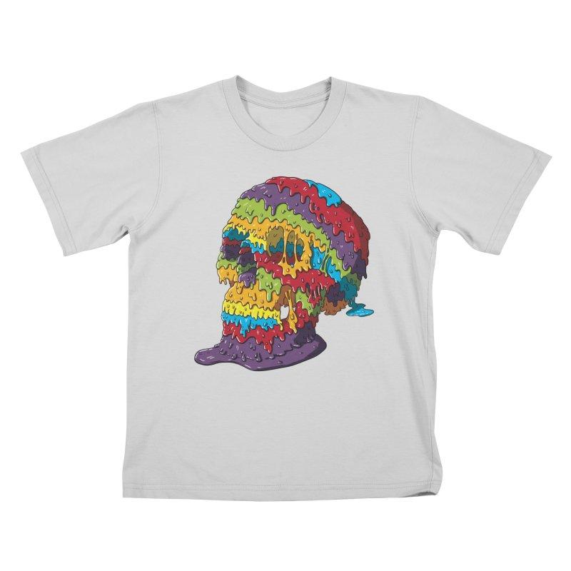 Melty Skull Kids T-Shirt by Mystic Soda