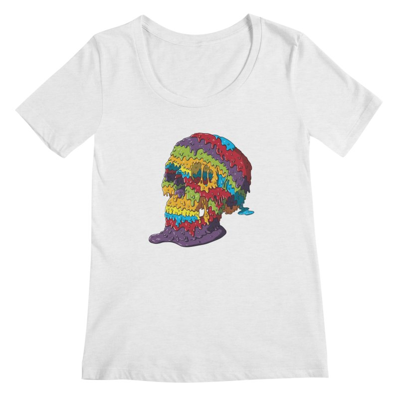 Melty Skull Women's Regular Scoop Neck by Mystic Soda