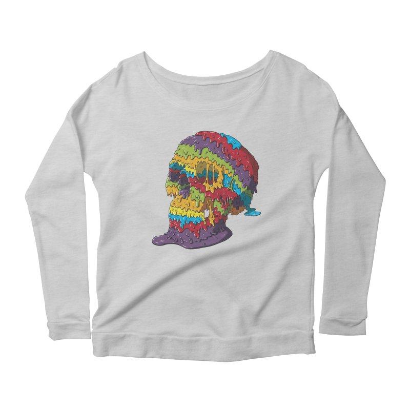 Melty Skull Women's Scoop Neck Longsleeve T-Shirt by Mystic Soda