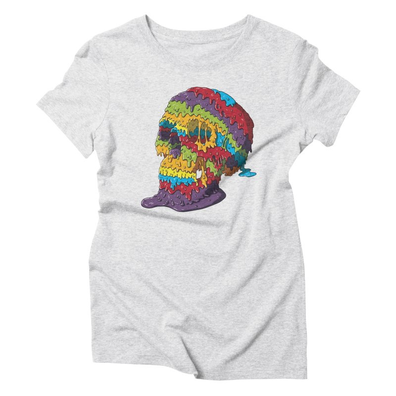 Melty Skull Women's Triblend T-Shirt by Mystic Soda