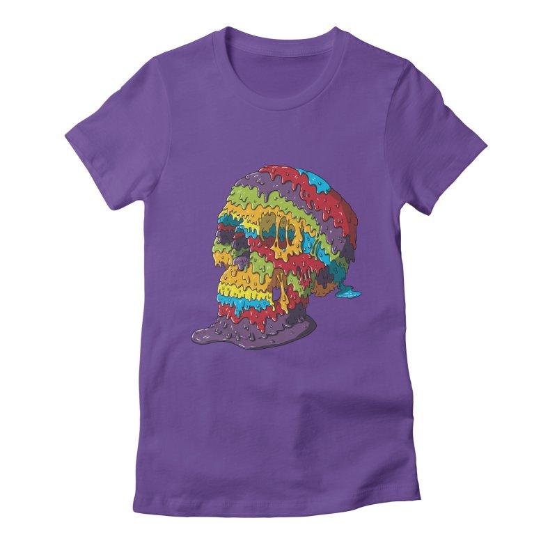 Melty Skull Women's T-Shirt by Mystic Soda