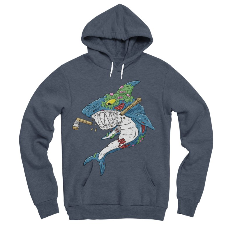 SHOCKEY! Men's Sponge Fleece Pullover Hoody by Mystic Soda