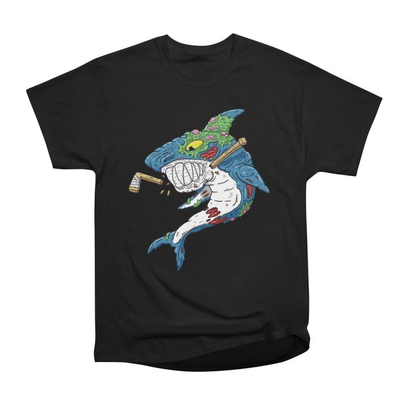 SHOCKEY! Women's Heavyweight Unisex T-Shirt by Mystic Soda