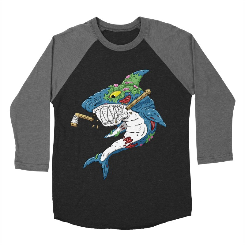 SHOCKEY! Women's Baseball Triblend Longsleeve T-Shirt by Mystic Soda