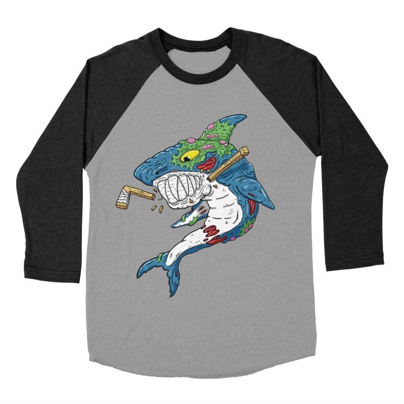 SHOCKEY! Women's Baseball Triblend Longsleeve T-Shirt by Mystic Soda