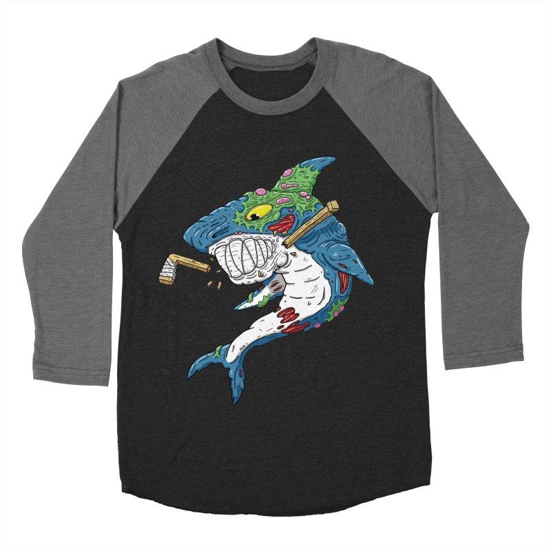 SHOCKEY! Men's Baseball Triblend Longsleeve T-Shirt by Mystic Soda