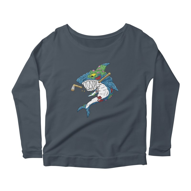 SHOCKEY! Women's Scoop Neck Longsleeve T-Shirt by Mystic Soda