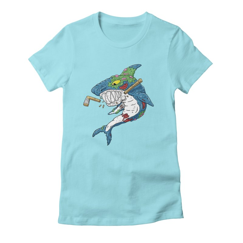 SHOCKEY! Women's Fitted T-Shirt by Mystic Soda