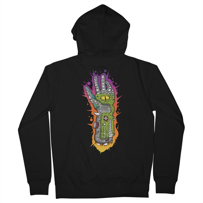 Controller Freaks - The PWR_GL0V Men's French Terry Zip-Up Hoody by Mystic Soda