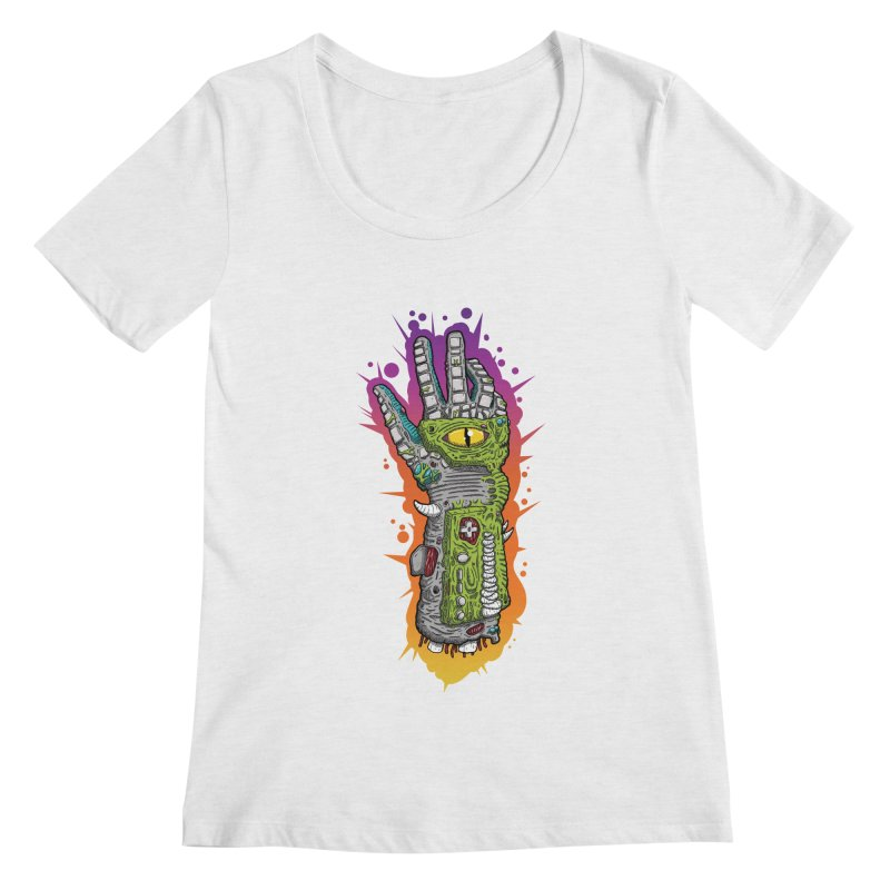 Controller Freaks - The PWR_GL0V Women's Regular Scoop Neck by Mystic Soda