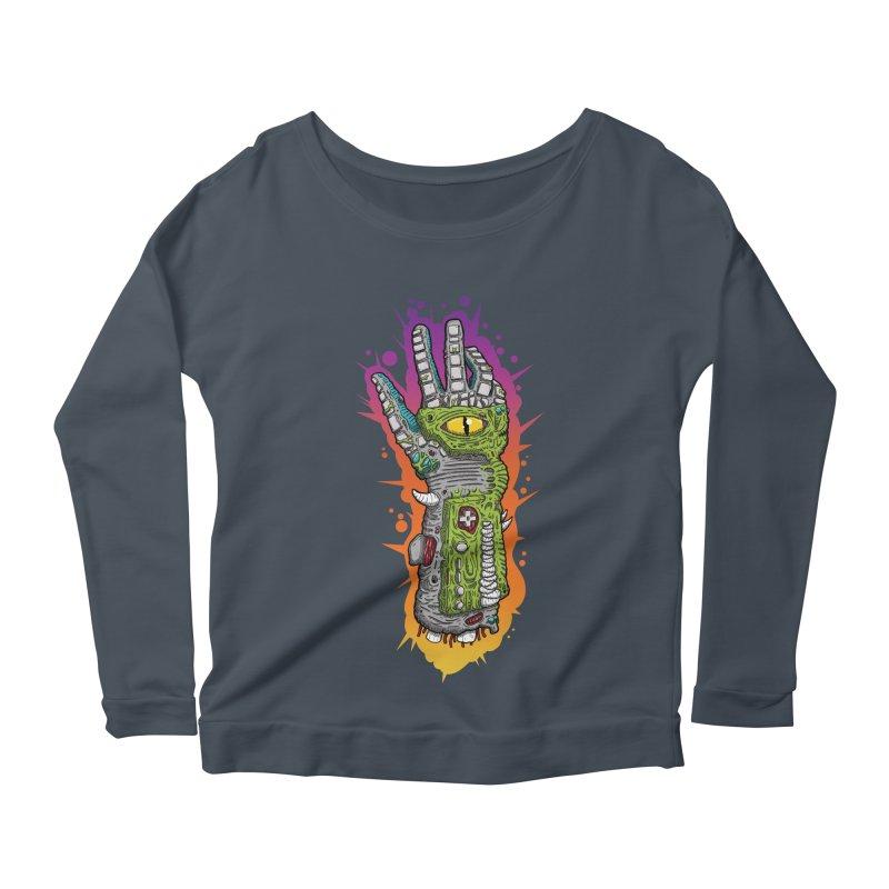 Controller Freaks - The PWR_GL0V Women's Scoop Neck Longsleeve T-Shirt by Mystic Soda