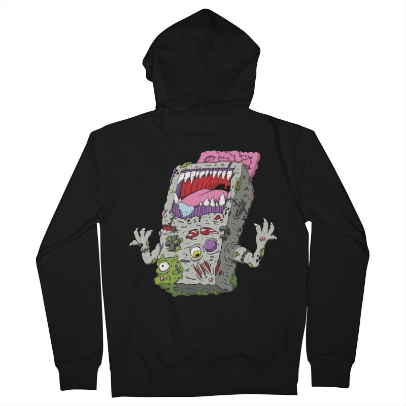 Controller Freaks - Game Boy Men's Zip-Up Hoody by Mystic Soda Shoppe