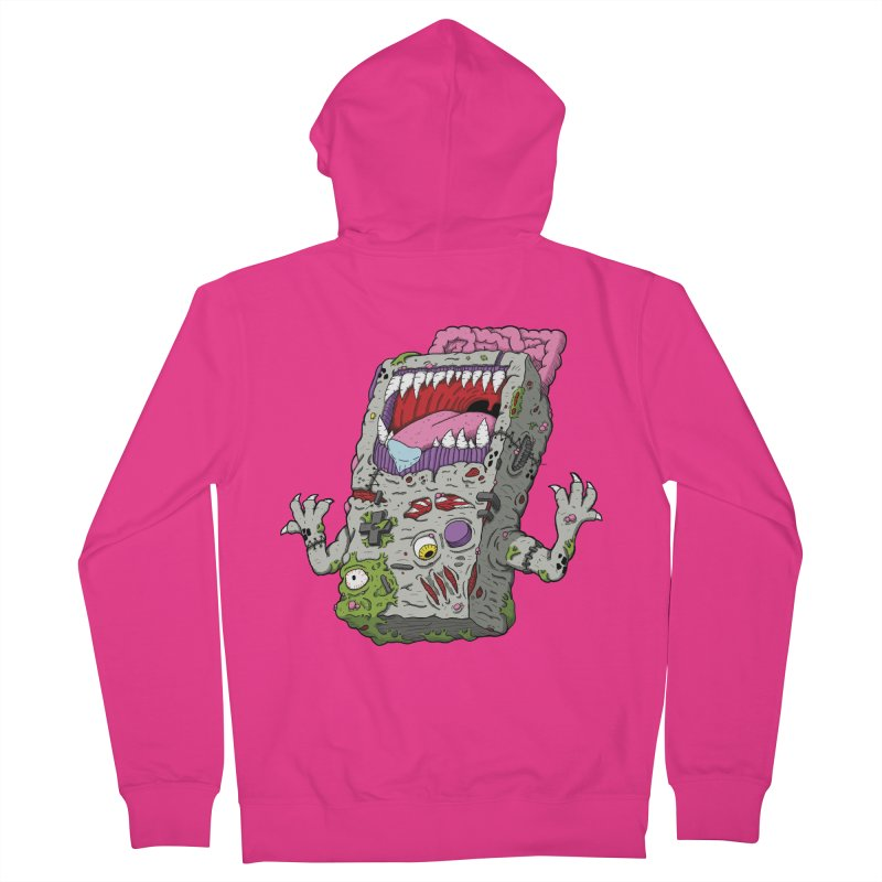 Controller Freaks - Game Boy Men's French Terry Zip-Up Hoody by Mystic Soda Shoppe