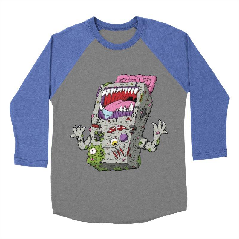 Controller Freaks - Game Boy Men's Baseball Triblend T-Shirt by Mystic Soda Shoppe