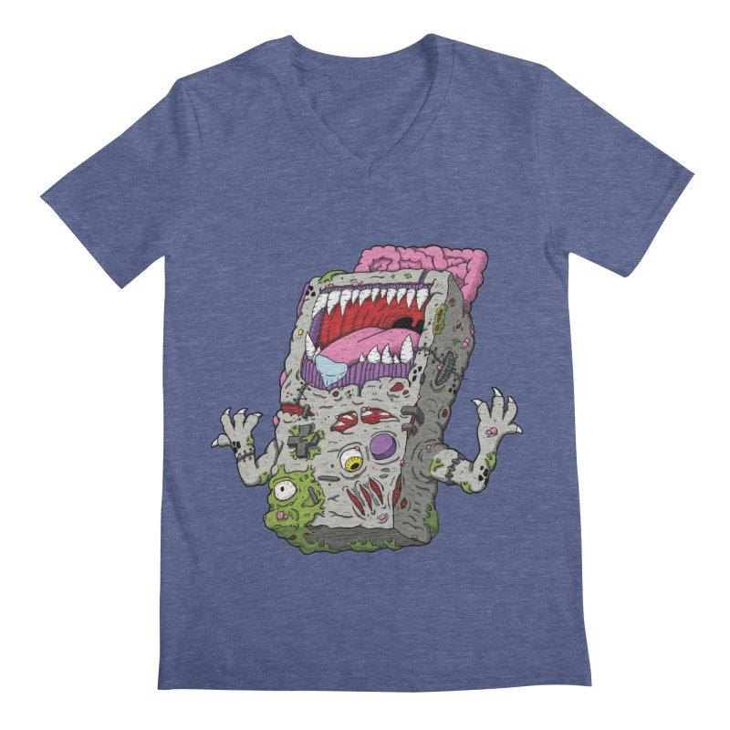 Controller Freaks - Game Boy Men's Regular V-Neck by Mystic Soda Shoppe