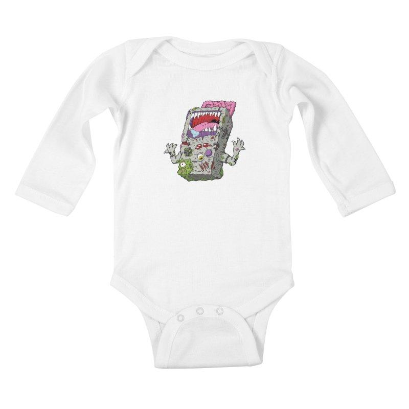 Controller Freaks - Game Boy Kids Baby Longsleeve Bodysuit by Mystic Soda Shoppe