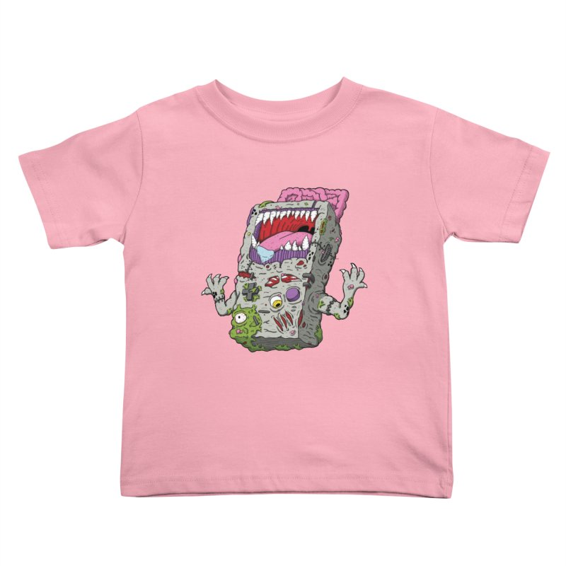 Controller Freaks - Game Boy Kids Toddler T-Shirt by Mystic Soda Shoppe